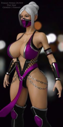 Female Ninja Outfit for G3F