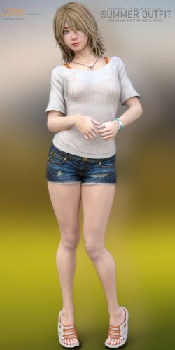 SL Summer Outfit for G3F