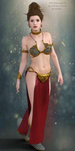 SW Princess Leia Slave Bundle for V4G3F