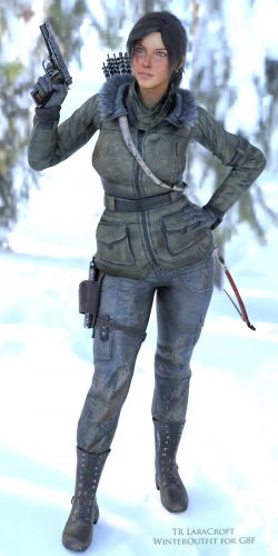 TR LaraCroft WinterOutfit for G8F