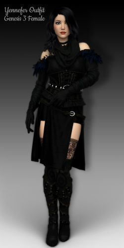 WC Yennefer Outfit for G3F