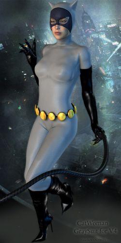 CatWoman GraySuit for V4