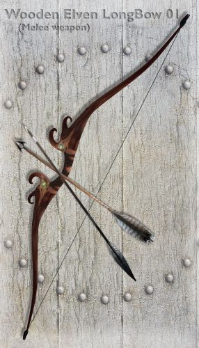 Wooden Elven LongBow 01