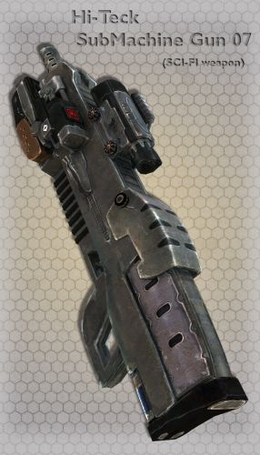 Hi-Teck SubMachine Gun 07