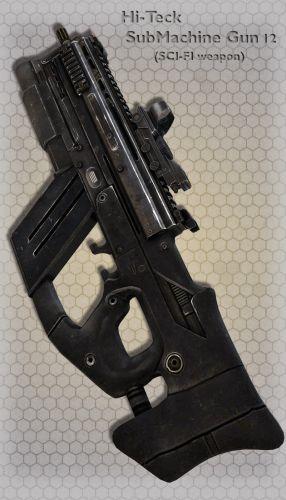 Hi-Teck SubMachine Gun 12