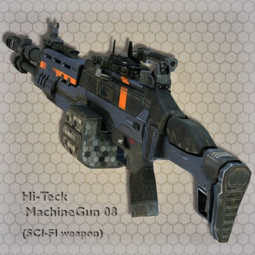 Hi-Teck MachineGun 08