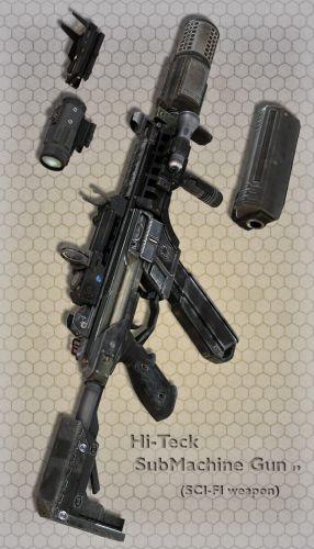 Hi-Teck SubMachine Gun 19