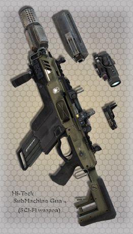 Hi-Teck SubMachine Gun 20